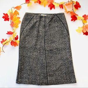 Talbots Wool Tweed Career Brown Skirt - size 8
